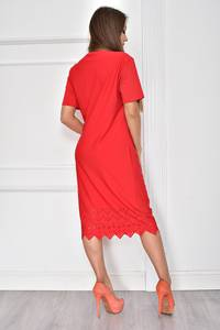 Платье короткое нарядное красное У7753
