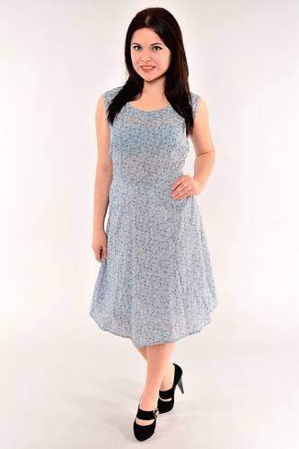 Платье длинное с коротким рукавом офисное И1022