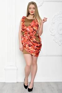 Платье короткое нарядное без рукавов С7201