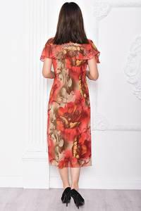 Платье длинное деловое нарядное С9654