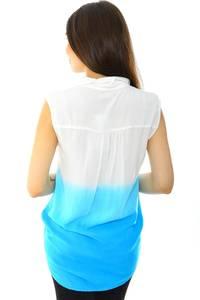 Рубашка белая летняя с коротким рукавом Н6884