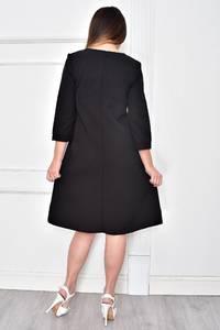 Платье короткое нарядное черное Ф4840