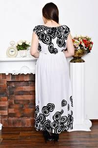 Платье длинное белое с открытыми плечами Р6894