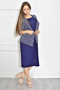 Платье длинное однотонное с коротким рукавом Т6706