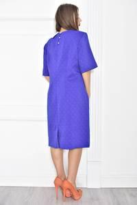 Платье короткое синее деловое Т6799