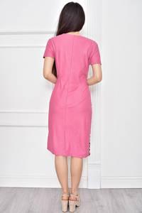 Платье короткое с принтом деловое Т7786