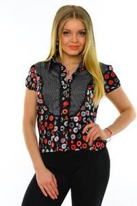 Рубашка с принтом с коротким рукавом М7003