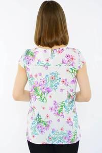 Блуза летняя нарядная белая Н1494