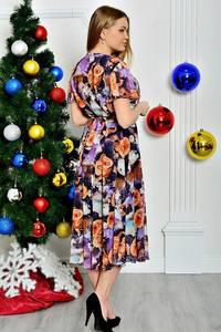 Платье длинное с коротким рукавом нарядное П7779