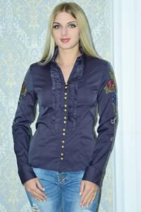 Рубашка однотонная с кружевом Р9789