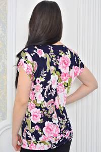Блуза для офиса с цветочным принтом Р0441