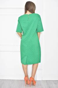 Платье короткое зеленое деловое Т6800