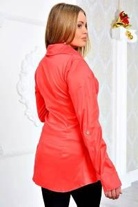 Рубашка красная с длинным рукавом П9055
