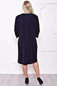 Платье длинное черное однотонное С8912