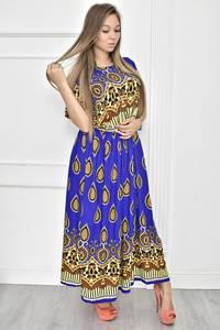 Платье длинное с принтом Т7474