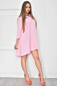 Платье короткое с рукавом 3/4 однотонное У7756