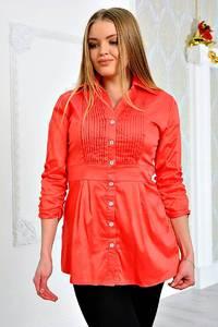 Рубашка красная однотонная П9056