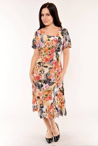 Платье длинное с коротким рукавом летнее И6139