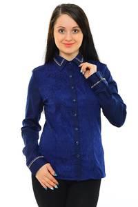 Рубашка синяя однотонная М5513