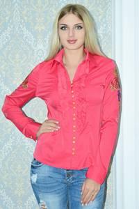 Рубашка красная с длинным рукавом Р9791