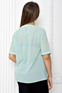 Блуза прозрачная с коротким рукавом Т1809