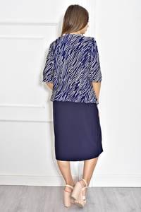 Платье длинное однотонное с коротким рукавом Т6708
