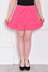 Юбка трапеция розовая летняя С9330