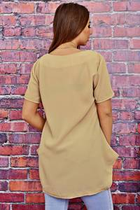 Блуза с коротким рукавом прозрачная Т4118