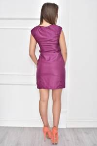 Платье короткое однотонное без рукавов Т7475