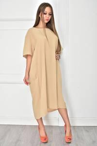 Платье длинное однотонное повседневное У7905