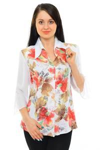 Рубашка белая с принтом М5514