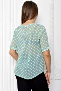 Блуза прозрачная с коротким рукавом Т1810