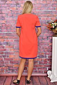 Платье короткое однотонное летнее Т5913