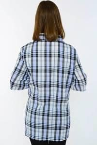 Рубашка в клетку с коротким рукавом Н1497