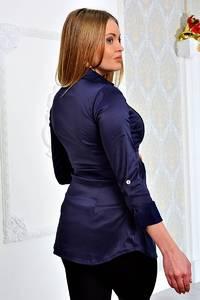 Рубашка синяя с длинным рукавом П9057