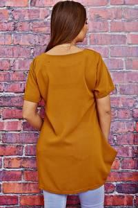 Блуза с коротким рукавом прозрачная Т4119