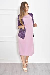 Платье длинное однотонное с коротким рукавом Т6710