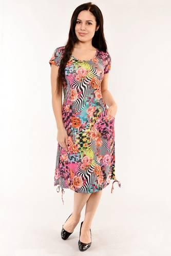 Платье длинное с коротким рукавом летнее И6141