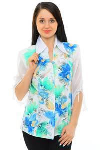 Рубашка белая с принтом М5516