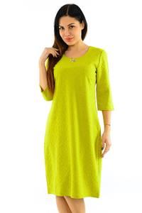 Платье длинное однотонное желтое М7760