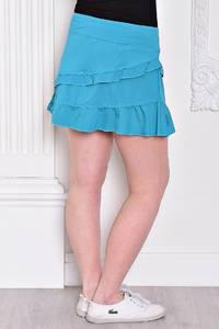 Юбка-шорты синяя летняя С9329