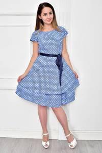 Платье короткое с принтом летнее Ф4844