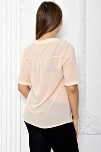 Блуза прозрачная с коротким рукавом Т1811