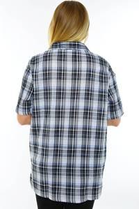 Рубашка в клетку с коротким рукавом М9577