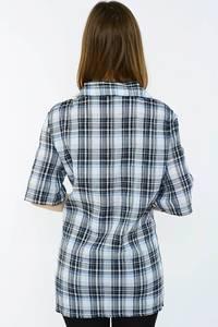 Рубашка в клетку с коротким рукавом Н1498