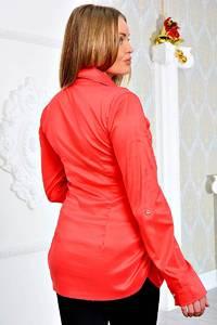 Рубашка красная с длинным рукавом П9058