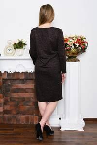 Платье длинное зимнее черное Р5210