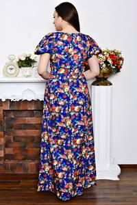 Платье длинное нарядное с принтом Р6899