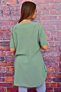 Блуза с коротким рукавом прозрачная Т4120