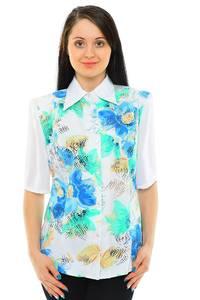 Рубашка белая с принтом М5517